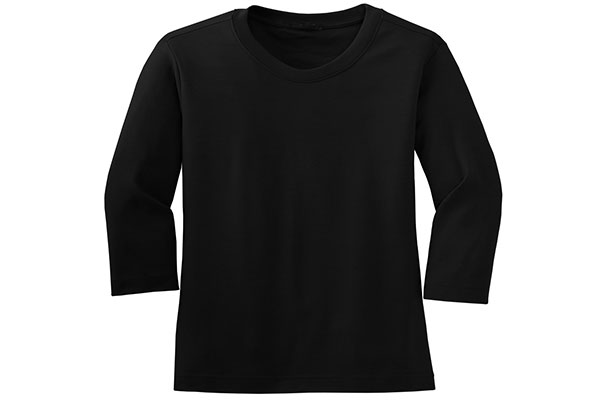 Deep Scoop Three Quarter Length T-Shirt